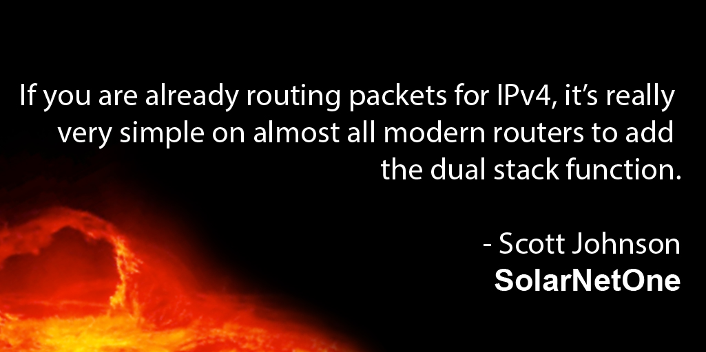 routing packets IPv4 modern routers dual stack