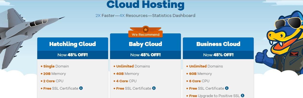 Best cloud hosting providers - HostGator