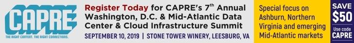 CAPRE's Data Center Round Up for September 6, 2019