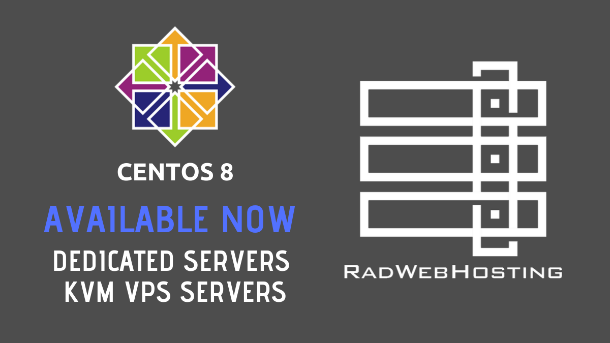 centos 8 now available on dedicated servers and vps