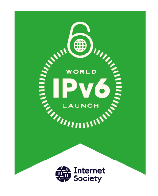 World IPV6 launch flag ISOClogo