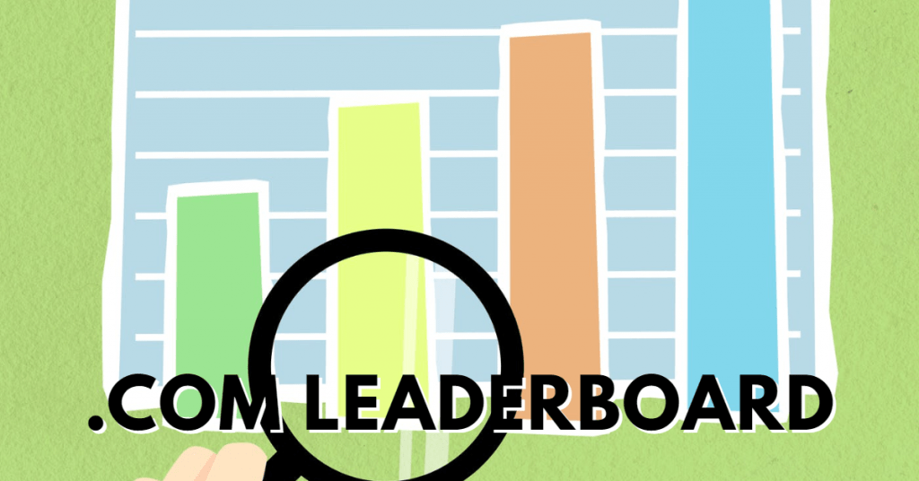 Who's on top? .Com Leaderboard update