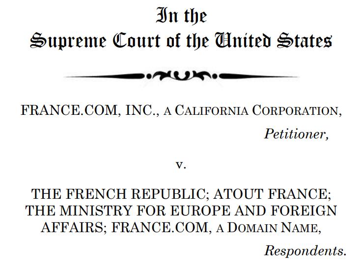 Former France.com domain owner asks Supreme Court to consider case