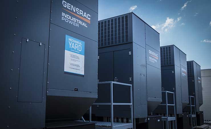 Backup generators at a Venyu data center in Baton Rouge. (Photo: Venyu)