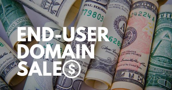 21 end user domain sales we missed last month